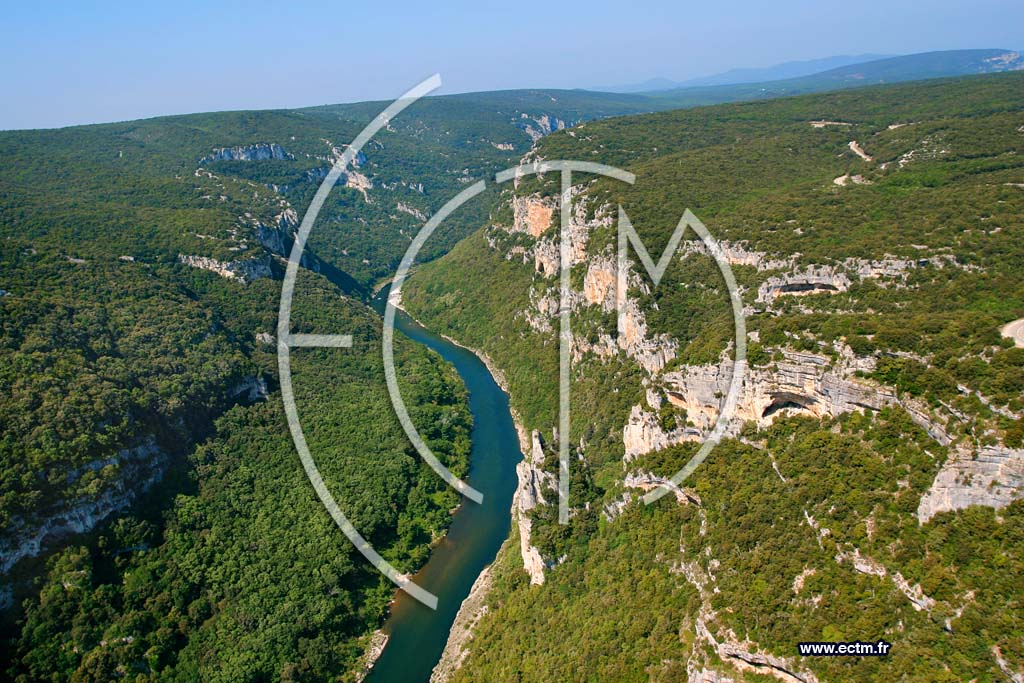 Photo a�rienne de Gorges de L Ardeche